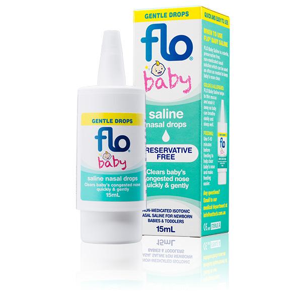 Flo Baby Saline Nasal Drops