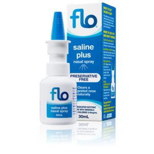 Flo Saline Plus Nasal Spray
